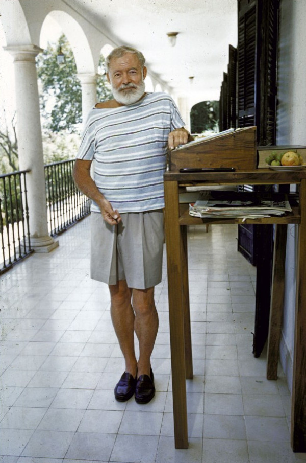 Ernest Hemingway At His Standing Writing Desk On The Balcony Of Bill Davis S Home Near Malaga Where He Wrote Dangerous Summer Life Magazine Jan